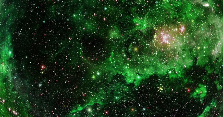 Flying Through Stars And Nebulae - 4K - Purple The Camera ...
