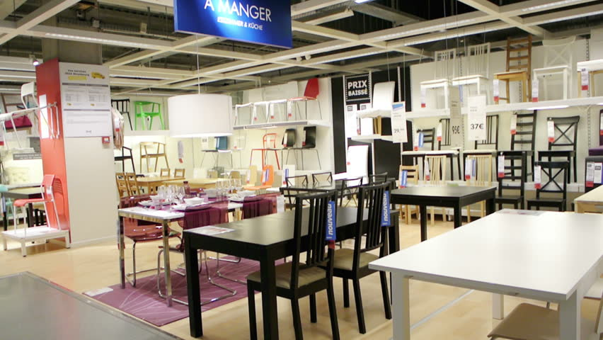 PARIS, FRANCE   CIRCA 2015: IKEA Furniture Store And Customers Browsing  Through Its Furniture