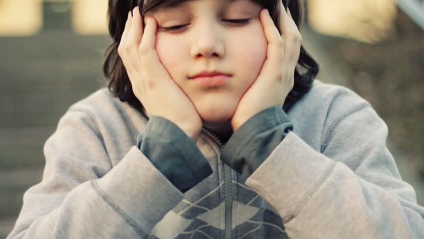 Young lonely sad boy portrait #1107883