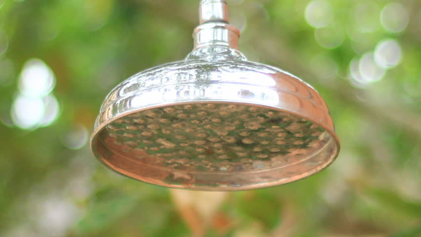 Rain Shower Head With Water Stock Footage Video 100 Royalty Free