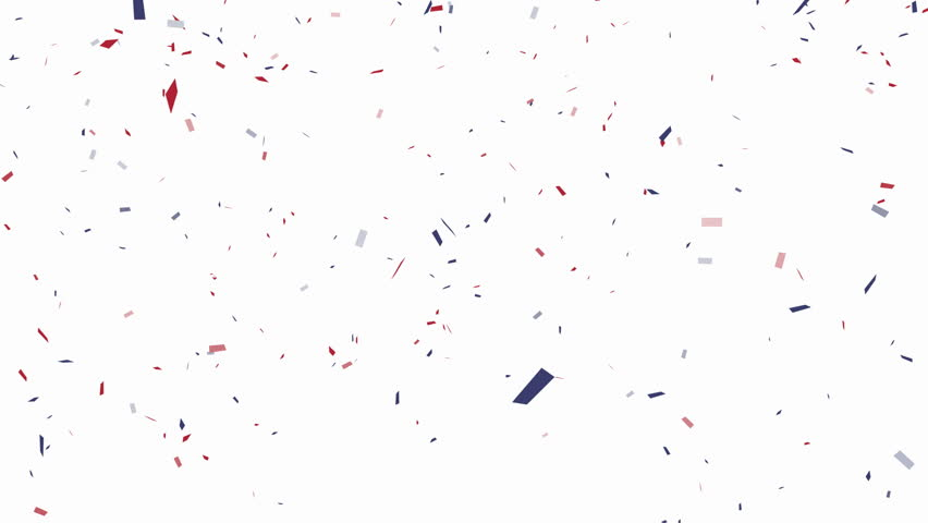 Blue, red and white confetti on white background – alpha channel included | Shutterstock HD Video #11144816