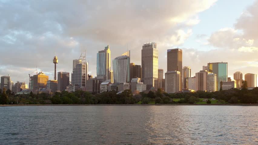 Sydney City view Dusk Hyperlapse (Time-lapse)