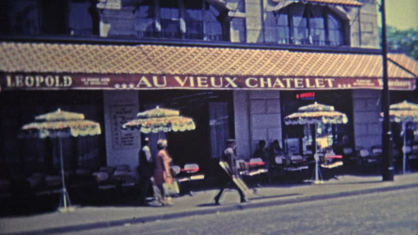 PARIS, FRANCE - 1969: Scenes around Paris of popular restaurants and from above the city. | Shutterstock HD Video #11172872