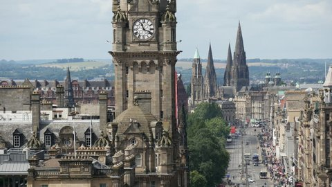 Time lapse of Princes street in Edinburgh Scotland