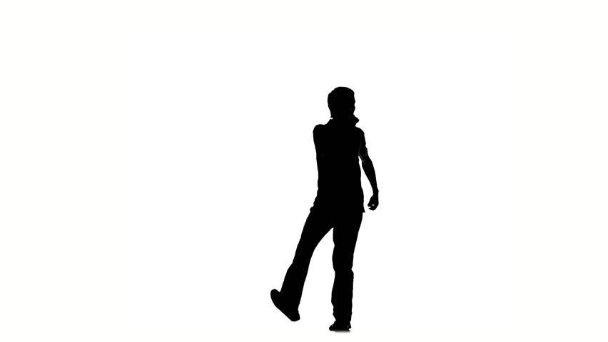 Woman Walking Silhouette Side