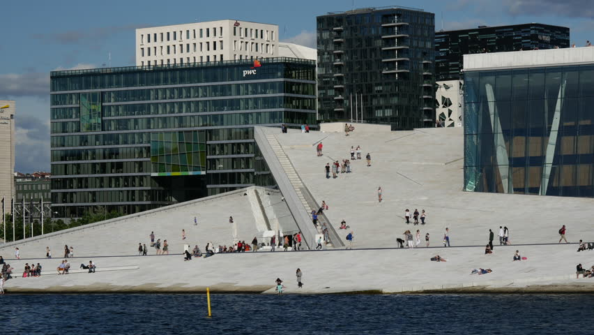 Close up from the Oslo Opera House in Norway | Shutterstock HD Video #11196863