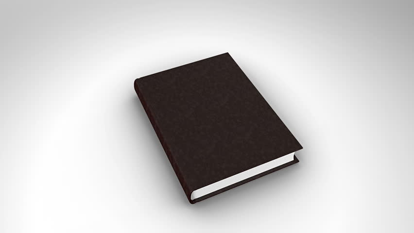 Digital Animation Of Book Opening On White Background Stock ...