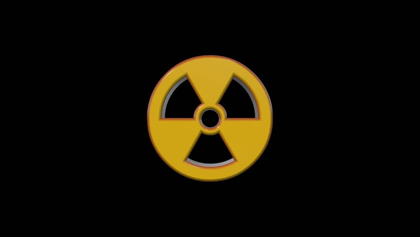 Radiation Hazard Symbol Stock Footage Video 100 Royalty Free