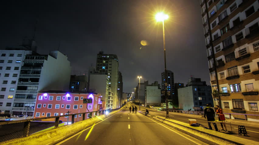 Sao Paulo - JULY 19, 2015 - Timelapse of Brazil's largest city , a metropolis that never sleeps. Strolling through the center , theaters, streets and busy avenues , of this beautiful city | Shutterstock HD Video #11359646