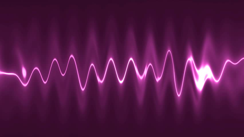 Abstract background pink high-tech waveform. audio spectrum glow simulation use for music and computer calculating. VJ Animation background with waves. seamless loop.