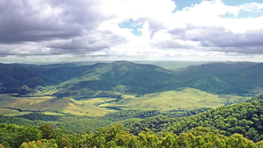 Beautiful mountains panorama. time lapse. High quality Footage - Original Size 4k (4096x2304). #1141642