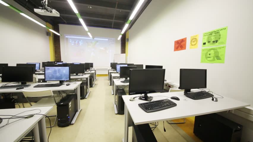 Modern Computer Classroom ~ Moscow dec classroom with modern computers in