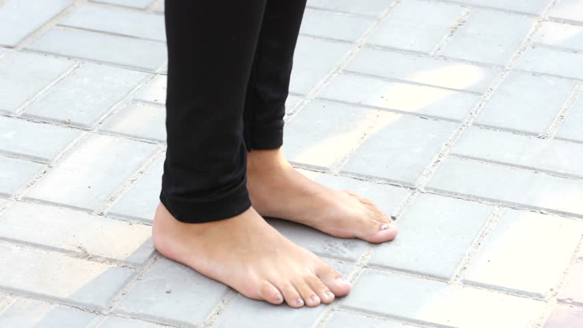 Very public barefoot teen girls idea