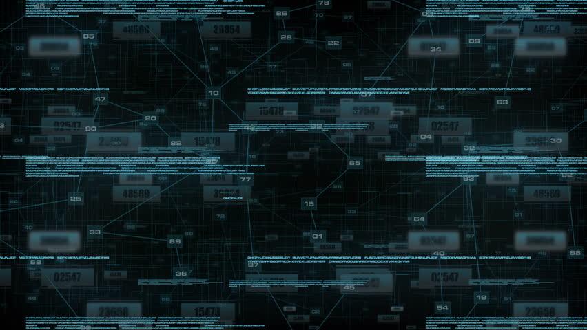 Blue digital art in a dark background | Shutterstock HD Video #11447276