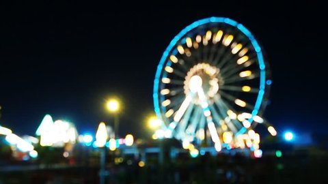 Blur or defocus Fun fair or Amusement park.