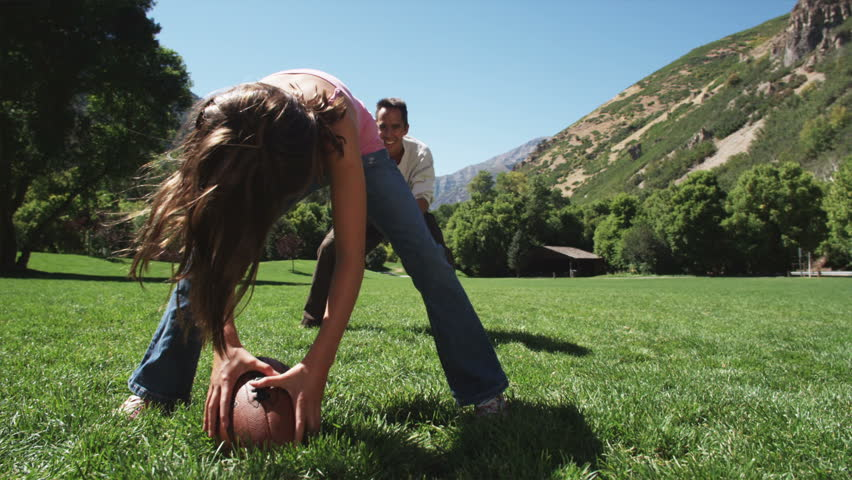 Father playing football with his kids   Shutterstock HD Video #11501276