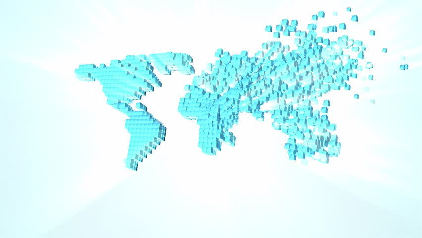 Map of world for news stylized world map world political map world map pieces joining footage hd stock footage clip gumiabroncs Choice Image