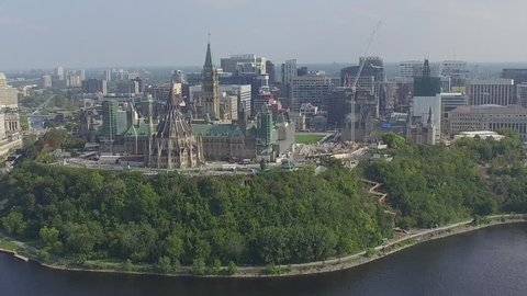 Aerial view of Ottawa's Downtown core