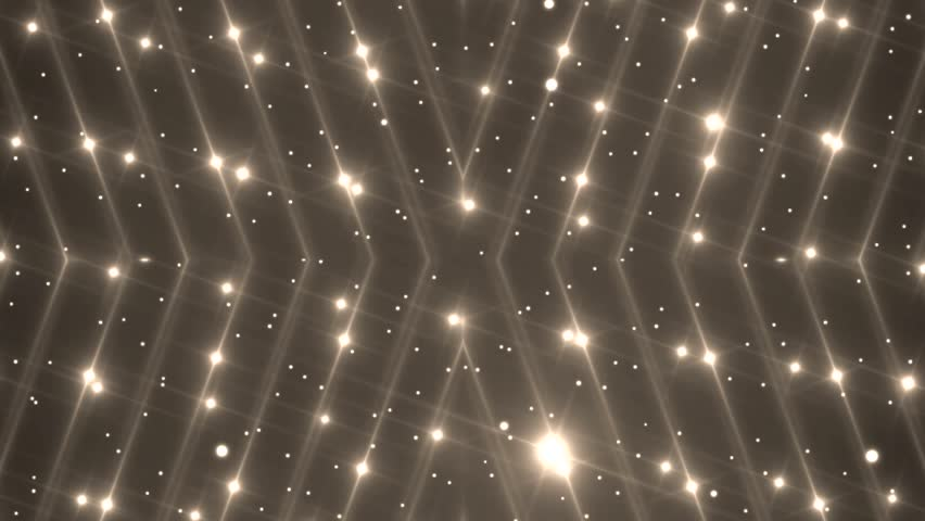 Disco spectrum lights concert spot bulb. Abstract motion background in gold colors, shining lights, energy waves and sparkling particles. Seamless loop. More sets footage in my portfolio. | Shutterstock HD Video #11584436