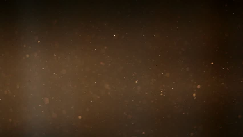 dust particles in a ray of light against dark background