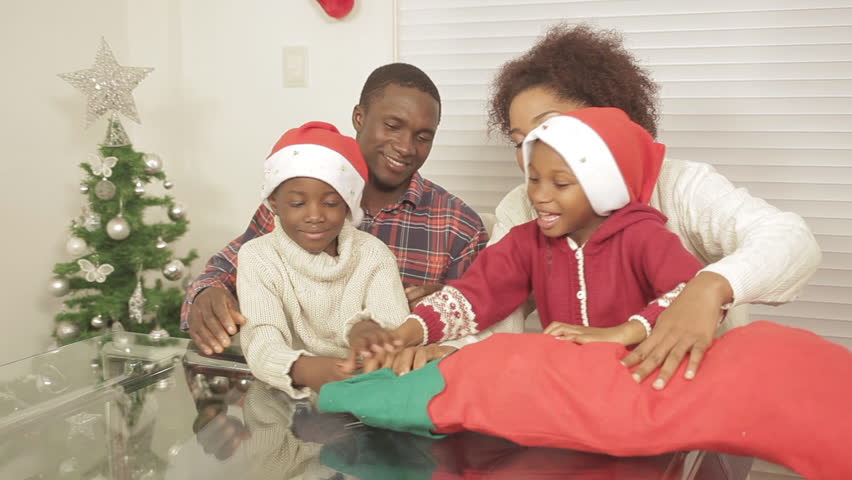 Black Family Opening Christmas Gift Stock Footage Video (100% Royalty-free) 11620496 | Shutterstock