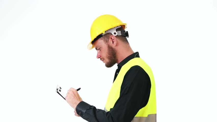 Stock Video Clip Of Attractive Construction Foreman In His 20s, Wearing |  Shutterstock