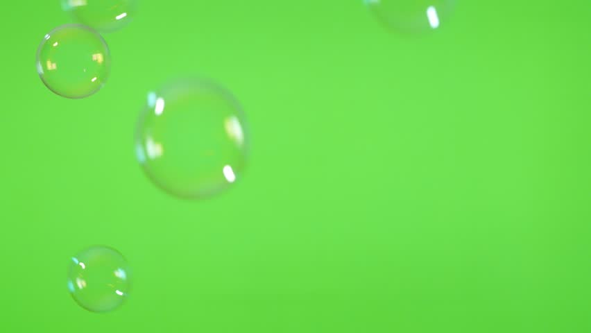 Soap bubbles in front of greenscreen 4K 2160p 30fps UltraHD footage - Bubbles made of soap in the air green screen 4K 3840X2160 UHD video