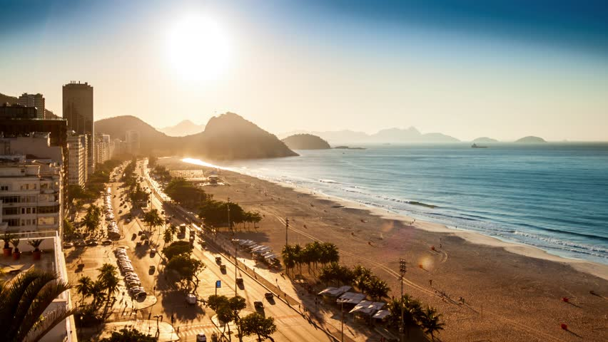Copacabana beach sunrise timelapse, in Rio de Janeiro, Brazil (4K). For the 1.6GB MJPEG HD version, search clip ID 11664845