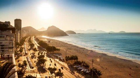 Copacabana beach sunrise timelapse, in Rio de Janeiro, Brazil (4K). For the 1.6GB MJPEG HD version, search clip ID 11664845