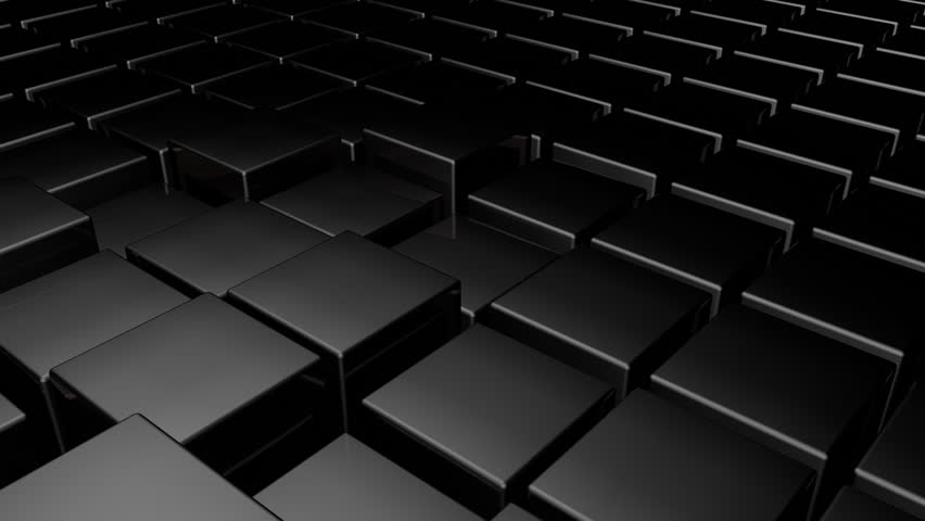 Technology Blocks Abstract Black Background 3d Animated