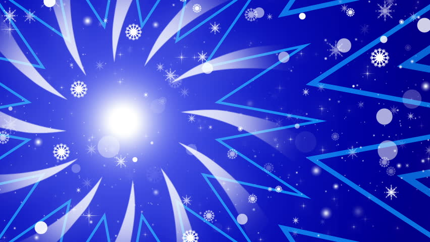 Blue abstract loop background, snowflakes | Shutterstock HD Video #11733206