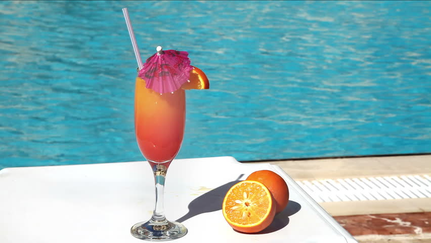 Orange Cocktail With Umbrella And Stock Footage Video 100 Royalty Free 1174816 Shutterstock
