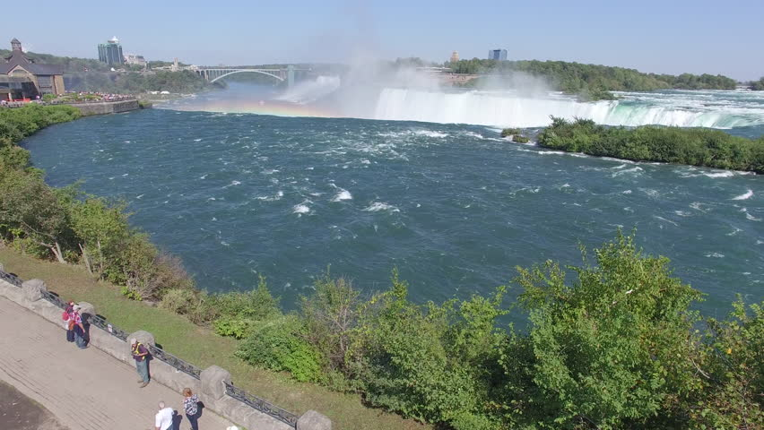 Aerial view of North America's Magnificent Niagara Falls on the border of Canada and the United States | Shutterstock HD Video #11769536