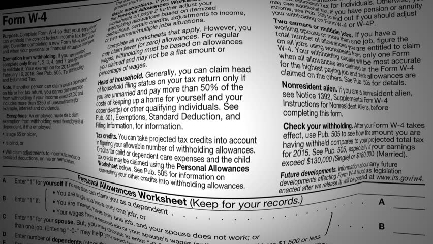 Income Tax Footage Video – Irs Personal Allowance Worksheet