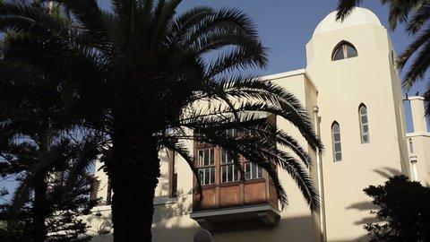 ISRAEL - CIRCA JUNE 2015 -House of Hayim Nahman Bialik, Israel national poet, white city Tel-Aviv