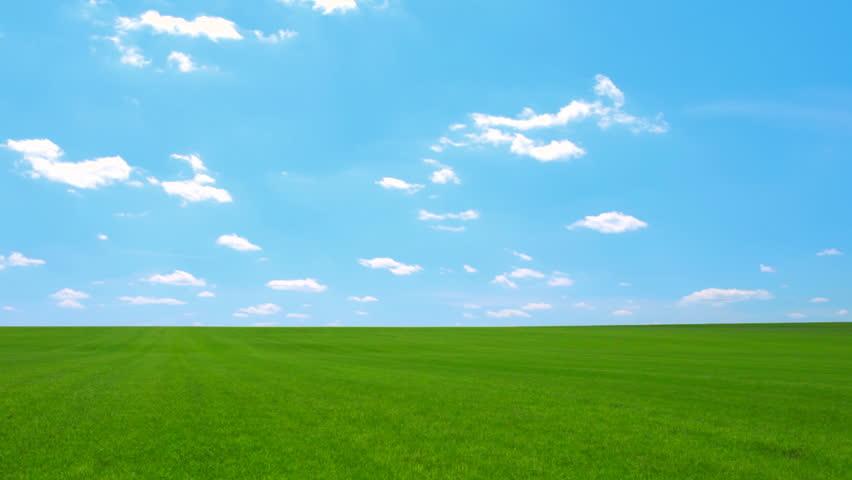 Landscape, Blue Sky, Timelapse Stock Footage Video (100% ...