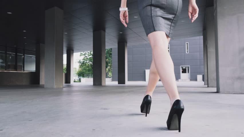 Walking in sexy high heels