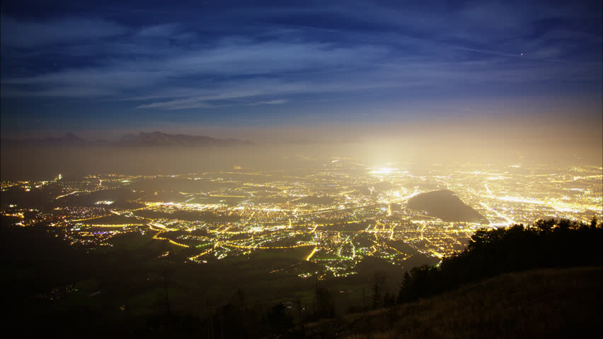 T/L WS HA City illuminated at night, 01/01/2013 | Shutterstock HD Video #11940146