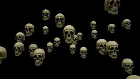 Flying skulls + alpha layer