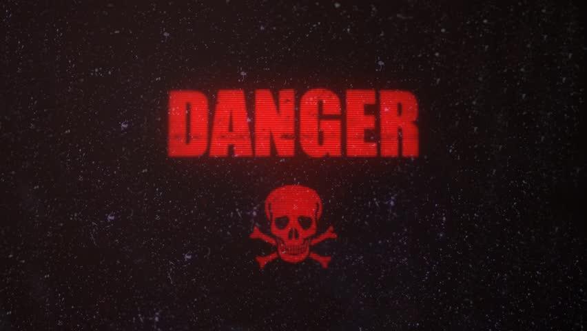 Картинка с надписью опасный