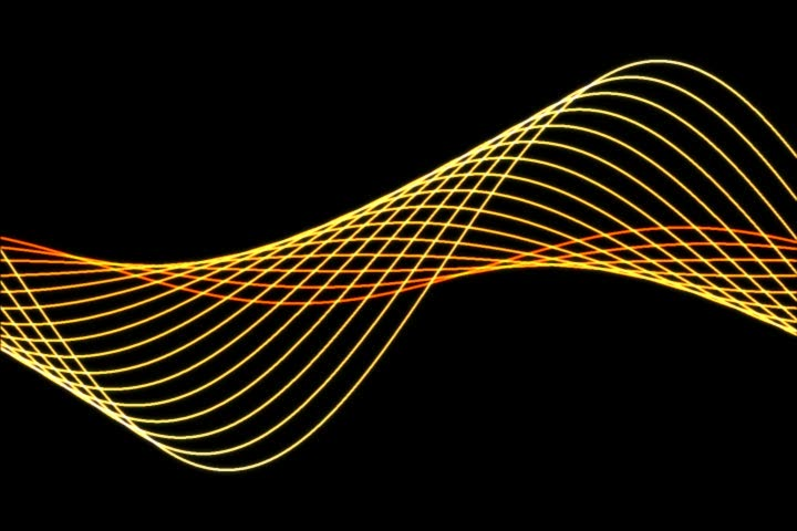 Golden audio wave lines