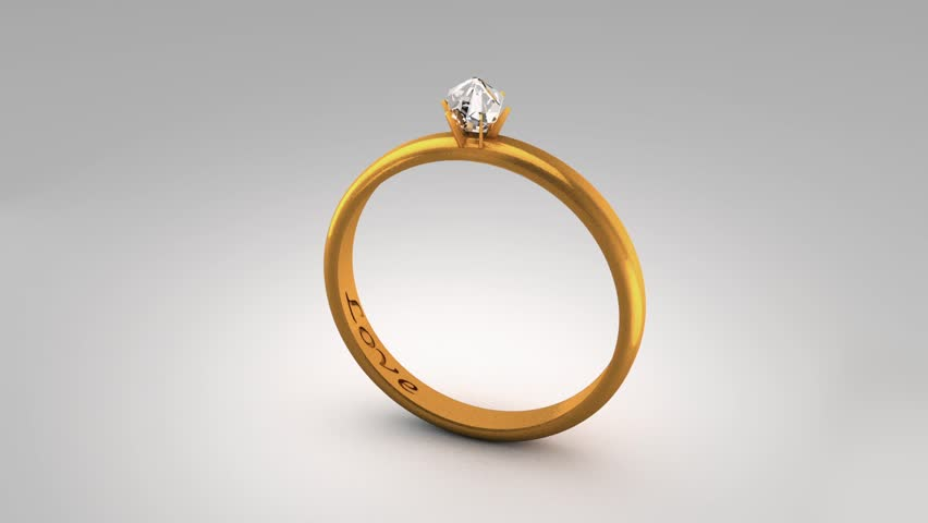 PAL Yellow Gold Wedding Ring With Diamond Top It Is Seamless