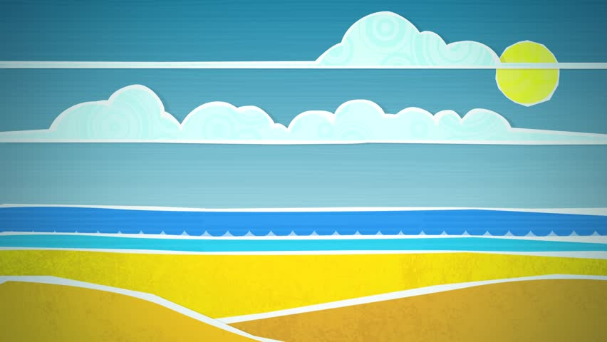 Dynamic graphic animation using paper cutout styled elements to illustrate a