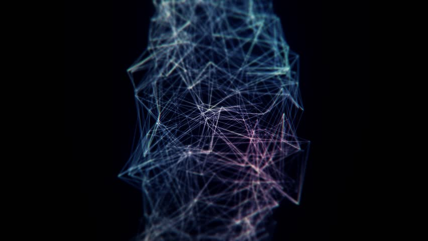 Abstract blue structure background with triangles and network.  | Shutterstock HD Video #12080126