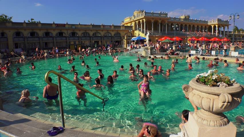 BUDAPEST, HUNGARY - SUMMER, 2015: The Ceiling Bath Szechenyi In ...