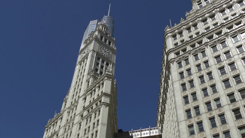 chicago circa july 2015 old highrise building wrigley building circa july 2015 - Brick Apartment 2015