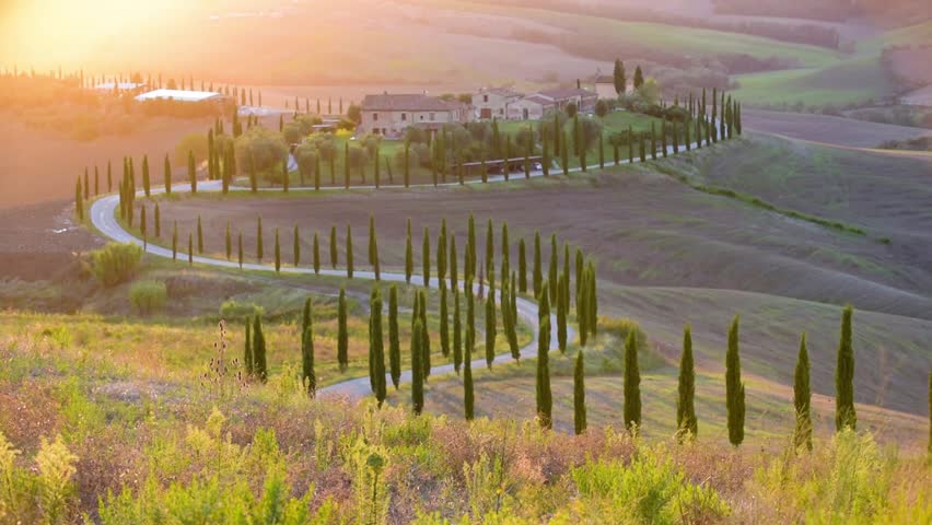 Tuscan sun in the landscape