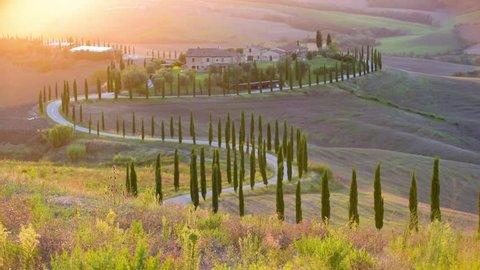 Tuscan sun in the landscape