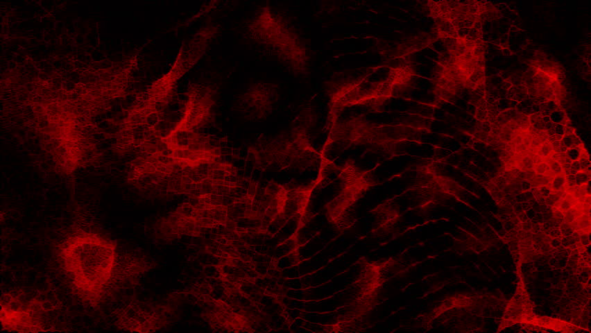 Stock Video Of Red Molecular Cell Background Loop