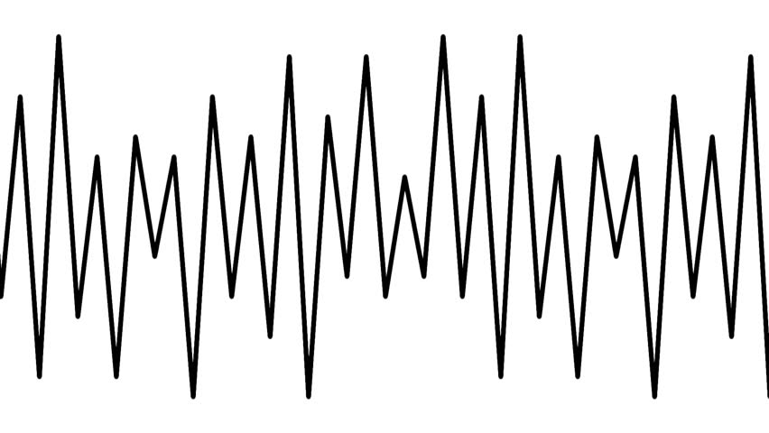 Graphical representation of pulses in seamless loop full HD 1920x1080 7s 30Fps. | Shutterstock HD Video #12144896